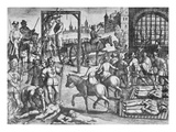 The Martyrdom of the Carthusian Monks (Engraving) Premium Giclee Print by  English