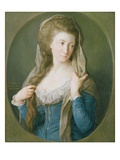 Portrait of a Woman, Traditionally Identified as Margaret Stuart, Lady Hippisley, 1785 Gicle-tryk af Pompeo Girolamo Batoni