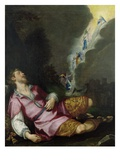 Jacob's Dream, 1593 (Oil on Canvas) Giclee Print by Ludovico Cardi da Cigoli