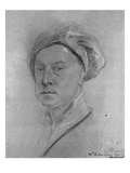 Self Portrait, 1734-35 (Chalk on Paper) Giclee Print by Jonathan Richardson