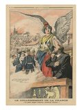 Remember', Jean Jaures and Marianne, Illustration from 'Le Petit Journal', 22nd June 1913 Giclee Print by  French