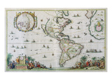 America, Plate 84, from 'Atlas Minor Sive Geographica Compendiosa', 1680 (Hand-Coloured Engraving) Giclee Print by Nicolaes the Younger Visscher
