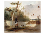 Pheasant Shooting (Oil on Canvas) Giclee Print by Samuel John Egbert Jones