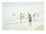 The Bathers (W/C on Paper) Giclee Print by Edward van Goethem