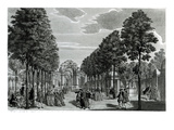 The Triumphal Arches, Handel's Statue in the South Walk of Vauxhall Gardens Giclee Print by Samuel Wale