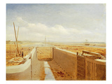 Canal under Construction, Possibly the Bude Canal, c.1840 Giclee Print by Benjamin William Leader