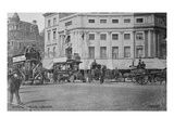 View of Oxford Circus, C.1900 (B/W Photo) Giclee Print by  English Photographer