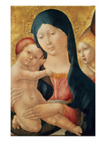 Virgin and Child with an Angel, C.1468-70 (Tempera on Panel) Giclee Print by  Liberale