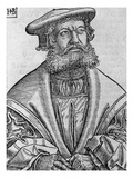 Helius Eobanus Hessus, 1534 (Woodcut) Giclee Print by Hans Brosamer