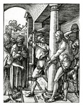 The Flagellation of Christ, from the Small Passion Series, 1509 (Woodcut) Giclee Print by Albrecht Dürer