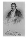 Eli Whitney, Engraved by D.C Hinman, 1846 (Engraving) Giclee Print by Charles Bird King