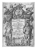 Titlepage to 'The Whole Works of Homer' Translated by George Chapman, Published in 1614-16 Giclee Print by William Hole