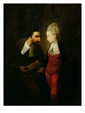 Portia and Shylock from 'The Merchant of Venice' Act IV, Scene I, c.1778 Premium Giclee Print by Edward Alcock