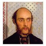 Portrait of William Michael Rossetti (1829-1919) by Lamplight, 1856 (Panel) Giclee Print by Ford Madox Brown