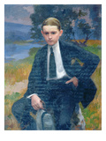 Portrait of Marcel Renoux Aged About 13 or 14 (Oil on Canvas) Giclee Print by Jules Ernest Renoux