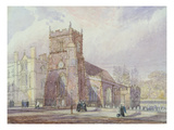 St. Botolph's, Cambridge and Corpus Christi College (W/C, Pen and Ink and Graphite on Paper) Giclee Print by Joseph Murray Ince