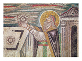 Melchisedech Offers Bread at the Altar, Detail of the Lunette Giclee Print by  Byzantine