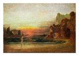 Study for 'Calypso's Grotto', C.1843 (Oil on Panel) Giclee Print by Francis Danby