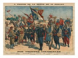 Review of the 14th July, Our Colonial Troops, Illustration from 'Le Petit Journal' Giclee Print by  French