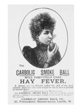 Advertisement for the Carbolic Smoke Ball, a Cure for Hay Fever (Print) Premium Giclee Print by  English