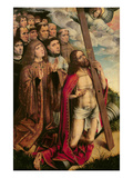 Christ the Mediator with Philip the Handsome (1478-1506) and His Entourage, Left Hand Panel Giclee Print by Colijn de Coter