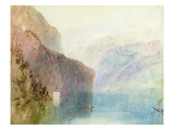 Tell's Chapel, Lake Lucerne, C.1841 (W/C with Pen on Paper) Giclee Print by J. M. W. Turner