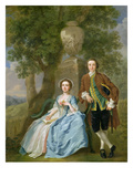 Portrait of George and Margaret Rogers, C.1748-50 (Oil on Canvas) (See also 111971) Giclee Print by Francis Hayman