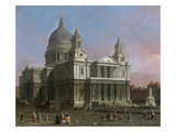St. Paul&#39;s Cathedral, 1754 (Oil on Canvas) Giclee Print by Canaletto 