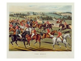 The Meet', Plate I from 'Fox Hunting', 1838 (Hand-Coloured Aquatint) Giclee Print by Charles Hunt