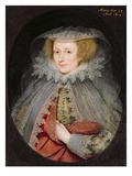 Catherine Killigrew, Lady Jermyn, 1614 (Oil on Panel) Giclee Print by Marcus Gheeraerts