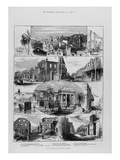 Ruins of the Fire at Kingston, Jamaica, from 'The Illustrated London News', 20th January 1883, 1842 Giclee Print by  English