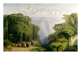 Kinchinjunga from Darjeeling, 1879 Giclee Print by Edward Lear