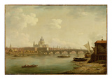 St. Paul's and Blackfriars Bridge, London, c.1770-2 Giclee Print by William Marlow