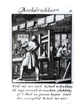 The Book Printer, from the Trade Book &#39;Iets Voor Allen&#39; by Abraham Van St. Clara, 1736 (Engraving) Giclee Print by Caspar Luyken