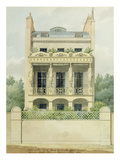 View of the Back Front of Henry Phillip Hope's House Towards Hyde Park in Seymour Place, 1818 Giclee Print by Thomas Hope