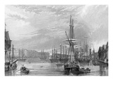 West India Dock Giclee Print by Francis William Topham