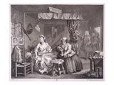 A Harlot's Progress, Plate Iii, from 'The Original and Genuine Works of William Hogarth' Giclée-Druck von William Hogarth