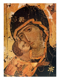 Icon (Oil on Wood Panel) Giclee Print by  Russian