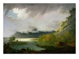 Derwent Water with Skiddaw in the Distance, c.1795-6 Giclee Print by Joseph Wright Of Derby