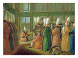 The Grand Vizier Giving Audience to the English Ambassador Giclee Print by Francis Smith
