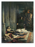 The Body of Etienne Marcel (C.1316-58) Is Shown to Dauphin Charles (1338-80) of France Giclee Print by Benjamin Ulmann