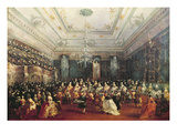 Gala Concert Given in January 1782 in Venice for the Tsarevich Paul of Russia and His Wife Giclee Print by Francesco Guardi