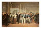 Cataract Operation Performed by Guillaume Dupuytren (1777-1835) Premium Giclee Print by  French