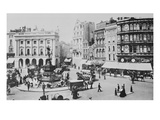 View of Piccadilly Circus, C. 1900 (B/W Photo) Giclee Print by  English Photographer