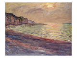 The Beach at Pourville, Setting Sun, 1882 Giclee Print by Claude Monet