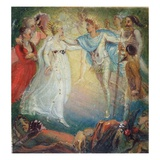 Oberon and Titania from 'A Midsummer Night's Dream' by William Shakespeare (1564-1616) 1806 Giclee Print by Thomas Stothard