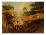 Street in Patna, c.1825 Giclee Print by Charles D'oyly