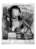 Caricature of Victor Hugo (1802-85) from 'Le Pantheon Charivarique', 19th Century (Litho) Giclee Print by Benjamin Roubaud