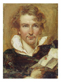 Self Portrait, 1823 (Oil on Paper on Panel) Giclee Print by William Etty