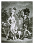 Miss Wicket and Miss Trigger, 1778 (Mezzotint) Giclee Print by John Collet